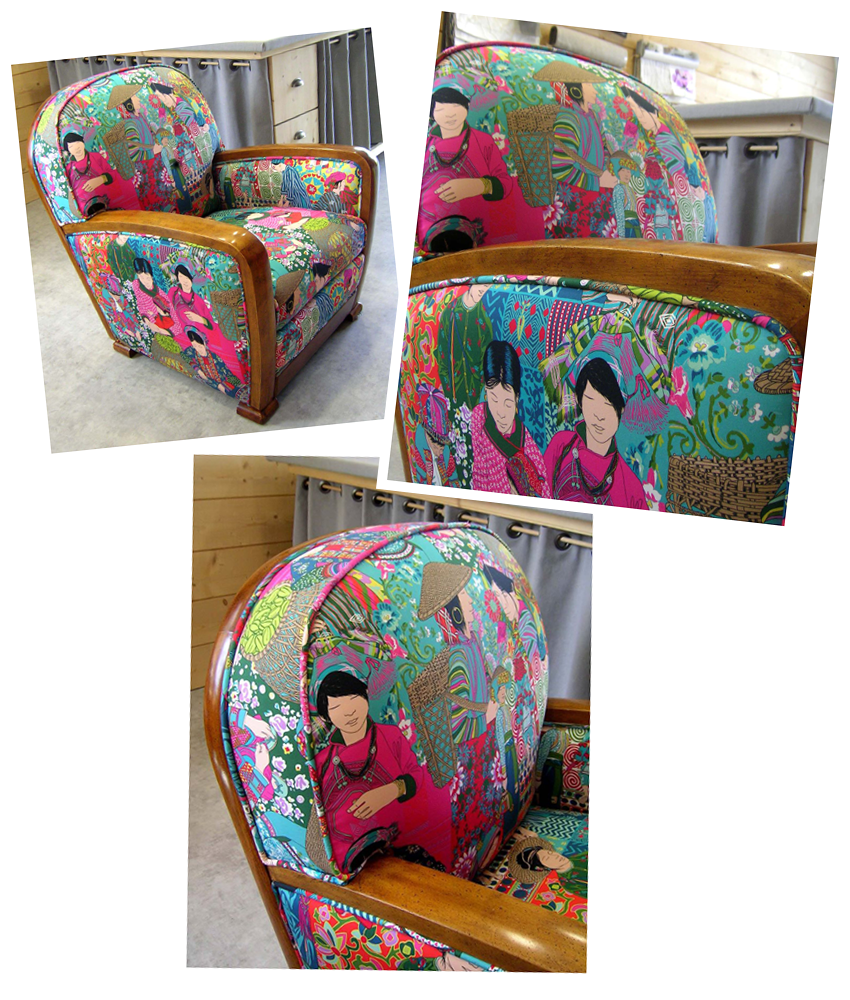 fauteuil tissus chinois
